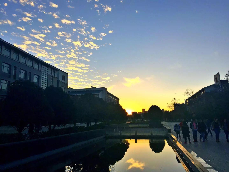 我们最美丽的云南师范大学:夕阳-萌哒校园